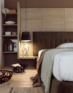 Contemporary style spruce #bedroom set NEW WORLD N09 by Scandola Mobili