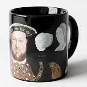 Henry the VIII Disappearing Wives Mug with hot drink