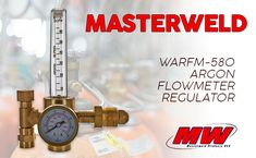 #weldfabulous Masterweld WARFM-580 Argon Flowmeter Regulator for Argon and Argon/CO2/Helium mixes. Shatterproof PC tube. #weldingsupplies #weldinggas #weldingcylinders #argon #welding
