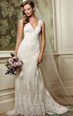 RK Bridal: Wtoo Bridal Fall Style 13132 Francine - Vintage inspired, this sleeveless lace and tulle slim fit and flare offers a sense of sophistication for any bride. Features a drama. Lace Wedding Dress, Wedding Dresses 2014, Wedding Dress Sizes, Wedding Bridesmaid Dresses, Bridal Dresses, Wedding Gowns, Lace Dress, Wedding Blog, Wedding Ideas