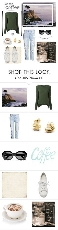 """""""But first Coffee.."""" by wind-chasing ❤ liked on Polyvore featuring Alexander McQueen, H&M, Acne Studios, BasicGrey and Giuseppe Zanotti"""