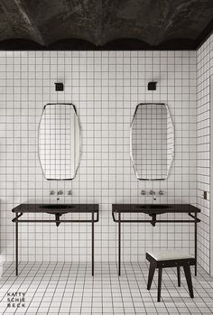 Katty Schiebeck tiled bathroom