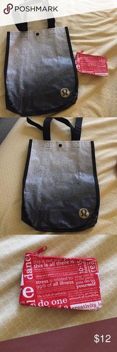 Lululemon bag and card holder Black and gray bag. And red card holder lululemon athletica Bags