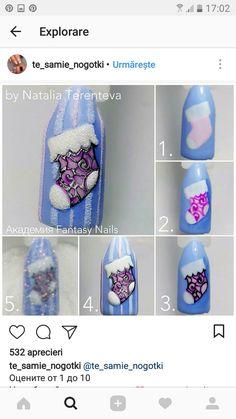 Nail Art Noel, Nail Art Diy, Diy Nails, Xmas Nails, Christmas Nails, Nail Art Techniques, Christmas Nail Art Designs, Art Template, Fabulous Nails