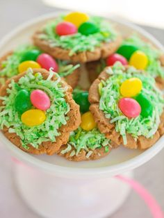 Eggs in a wreath cookies.  Fun for all ages.
