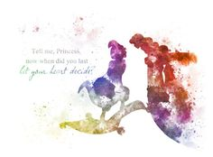 Aladdin and Jasmine Quote ART PRINT illustration by SubjectArt