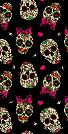Sugar skull halloween wallpaper papel de parede caveira, arte com caveira, papel de parede Halloween Sugar Skull, Halloween Tags, Sugar Skull Art, Halloween Pictures, Sugar Skulls, Halloween Ideas, Halloween Wallpaper Iphone, Halloween Backgrounds, Wallpaper Caveira