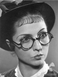 polish actress Jadwiga Smosarska, 1935