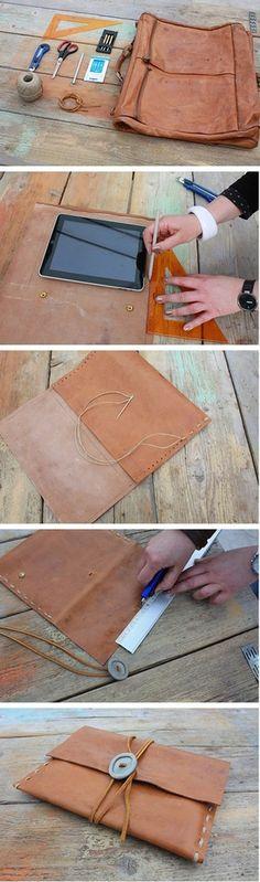 Tự chế túi đựng Ipad từ cặp da cũ