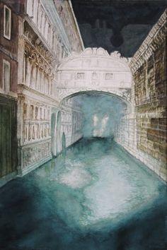 Bridge of Sighs – (Venice - Italy), aquarelle – 53 x 38 Arches 300gr, Original 600 Euro, Exclusive high end imprint on aquarelle paper - 100 Euro, www.sandorszikszai.com Venice Italy, Arches, Bridges, Euro, Mansions, The Originals, House Styles, Paper, Life