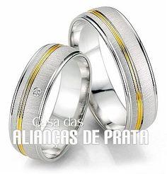 Aliança de namoro  Peso aproximado: 13 gramas o par  Largura: 6.5 mm  Pedra:1 Zirconia  http://casadasaliancasdeprata.com.br/