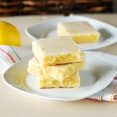 Sticky Gooey Lemon Brownies - I am in LOVE with these brownies. My new favorite lemon treat!