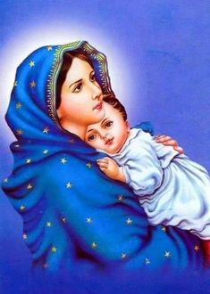 Do You Want Mary To Help You? Simply Offer Her This Prayer - Catholics Online Mother Mary Images, Mother Pictures, Images Of Mary, Jesus Painting, Baby Painting, Catholic Online, Catholic Art, Blessed Mother Mary, Blessed Virgin Mary