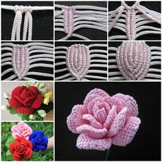 How to Weave Beautiful Rose in the Art of Macrame | iCreativeIdeas.com Like Us on Facebook ==> https://www.facebook.com/icreativeideas