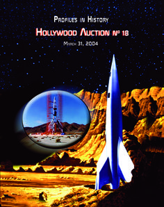 Hollywood Auction 18, 3-31-04  https://www.profilesinhistory.com/auctions/hollywood-auction-18/