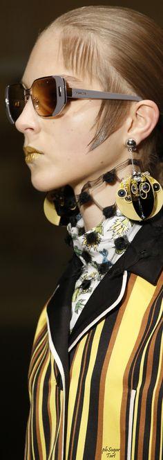 Inspiration, Ideas, Fashion, Eyewear, Prada Spring 2016 RTW. #PradaKisyovaLazarinova