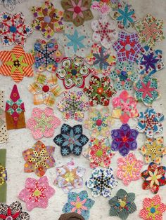 Blocks made by all the girls in Jen Kingwell's class. A collection of Daisy Do and Glitter. We look forward to seeing these gradually become quilts | The Cottage Quiltworks