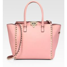 Valentino Rockstud Top-Handle Bag ($1,895) ❤ liked on Polyvore