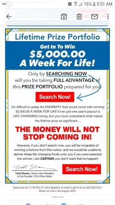 Win A House, 10 Million Dollars, Thomas Wayne, Win For Life, Congratulations To You, Publisher Clearing House, Blessed Mother Mary, Show Me The Money, Become A Millionaire