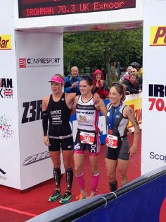 Eimear Mullan topping the Women's podium at Ironman 70.3 UK 2013 Twitter / ironmantri1976: @the_e_m_u @Holly_Lawrence_ ...