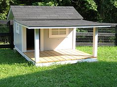 Custom Dog Kennel with Shaded Porch