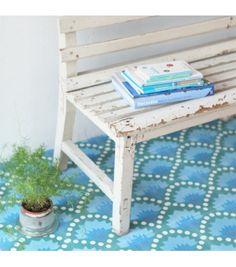 Carreau de ciment Wasabi bleu - Petit Pan - vivre en multicolore