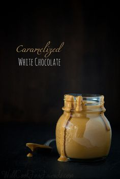 Caramelized White Chocolate -- Whether you love it or hate it, though, there is one thing white chocolate has above dark. And that is this: it can be turned into caramel. White Chocolate Frosting, White Chocolate Recipes, Chocolate Bark, Easy To Make Desserts, Just Desserts, Delicious Desserts, No Bake Desserts, Cake Fillings, Cake Toppings