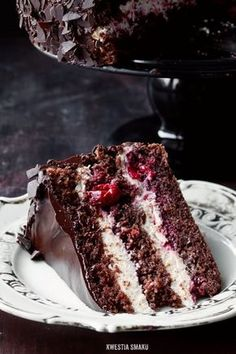 tort kawowo-chałwowy z wiśniami Healthy Cake Recipes, Sweet Recipes, Different Cakes, Polish Recipes, Cookie Desserts, How Sweet Eats, Carne, Cupcake Cakes, Food And Drink