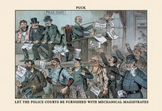 Mechanical Magistrates - Puck, by F. Opper