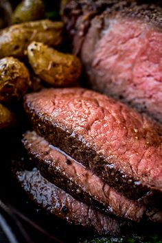 Pepper-Crusted Cowboy Rib Eye Steak with Shiitake Mushroom Butter - The Cozy Apron Recipes - Skirt Steak Recipes, Easy Steak Recipes, Grilling Recipes, Beef Recipes, Cooking Recipes, Seared Salmon Recipes, Pan Fried Salmon, Pan Seared Salmon, Sun Dried Tomato Sauce