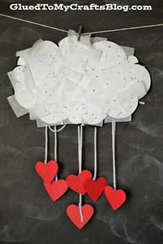 The Day It Rained Hearts - Cloud Kid Craft & Free Printable --ADD THIS TO Today's to do as well