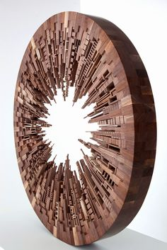 Pennsylvania artist James McNabb created a beautiful collection of architectural shapes using discarded wood as an interpretation of making...