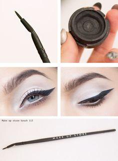 Cake eyeliner black and brush 113 from Make up store