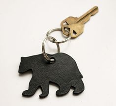 black leather bear keychain  // I WANT THIS! MAKING IT DEFINITELY