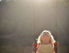 child gazing at the light as she swings. beautiful photo by elizabeth blank, via dear inspiration. Children Photography, Family Photography, Photography Tips, Portrait Photography, Foto Baby, Belle Photo, Pretty Pictures, Great Photos, In This Moment
