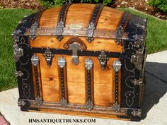 Martin Maier Saratoga Antique Trunk. See more trunks, get information, and purchase one of these at hmsantiquetrunks.com