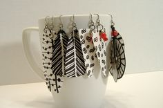 Statement earrings are in and these are big, bold, eye catching and incredibly light  because they are made of paper! Just posted six u...