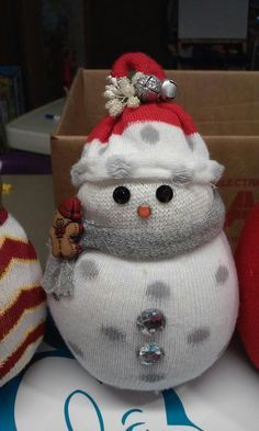 Sock snowman I make