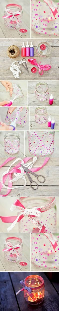 My DIY Projects: Paint Glass Candle Nightlight