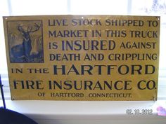 Hartford Fire Insurance Co. Sign