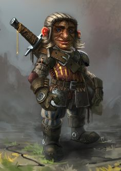Gnome mercenary by MarschelArts.deviantart.com on @deviantART