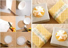 Flower Gift Wrap DIY Projects | UsefulDIY.com