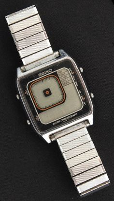 Vintage James Bond TV Digital Seiko Wrist Watch Alarm Chronograph c1980 AS IS.  No Reserve