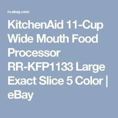 White Wide Mouth 3 Speed Exact Slice Large Blade Disc 11 Cup Food Processor Kit
