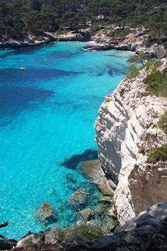 Cala Mitjana beach, Menorca, Spain