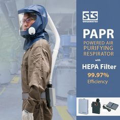 A supplied-air respirator is respiratory protective devices supplying clean air to a user through an air-supply hose. Shigematsu's supplied-air respirators provide superior protection and ensure easy breathing and are favored in a variety of industrial elds. Supplied-air respirator is respiratory protective devices supplying clean air to a user through an air-supply hose. Safety Mask, Air Supply, Hepa Filter, Air Purifier, Filters, Industrial, Easy, Industrial Music