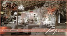 Stunning Pakistani Wedding Stage Decoration & Crystal Backdrop ideas in Pakistan.  Tulips creative wedding experts always gives you out of box wedding theme ideas and themed stage design setup at your baraat, walima, nikah, reception and other events and let your guests go crazy and wow.  #creativeweddingprops ... See more — at Royal Palm Golf and Country Club.