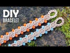 Double Helix DNA Bracelet Tutorial by Macrame School – Diy Bracelets İdeas. Diy Bracelets Easy, Macrame Bracelets, Dna, Micro Macrame Tutorial, Macrame Bracelet Tutorial, Double Helix, Macrame Projects, Macrame Patterns, Macrame Jewelry