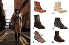 Kiltie boots + trench + tights