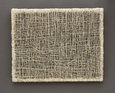 Kathy MIller Speak Softly to Me Hand spun text from an antique Japanese calligraphy book, felt and alpaca wool 24 x 30 x 1 1/2 inches